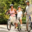 Lifestyle cycling of young ethnic family — Stock Video #18518605
