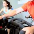 Stock Video: Members Fitness Club Exercising