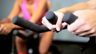 Exercising on Modern Gym Equipment — Stock Video