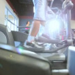 Stock Video: Keeping Fit on Modern Gym Equipment
