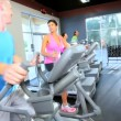 Stock Video: Health Club Members Physical Therapy
