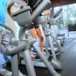Members Exercising at Gym — Wideo stockowe