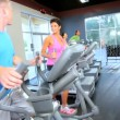 Stock Video: Multi Ethnic Health Club Members