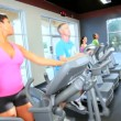 Keeping Fit on Modern Gym Equipment — Stock Video #18545711