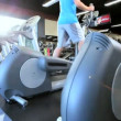 Exercising on Gym Treadmill — Stock Video #18546077