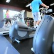 Workout Running on Gym Treadmill — Stock Video #18546151
