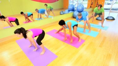 Healthy Lifestyle Keep Fit Class — Stock Video