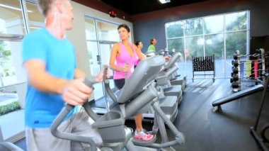 Health Club Members Physical Therapy — Stock Video