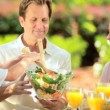 Parents Providing Daughters Healthy Lunch — Stock Video