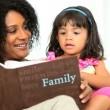 Mother Cute Pre School Child Photo Album — Stock Video