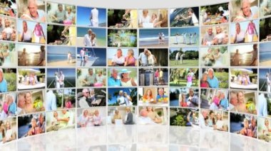 Montage Collection Older Couples Retirement Lifestyle — Stock Video