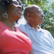 Stock Video: AfricAmericCouple Happy Retirement Community Living