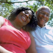 Mature African American Couple Retirement Home Garden — Stok video