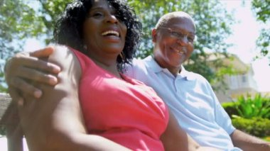 Contented Mature Ethnic Couple Advertising Retirement Living — Stock Video