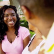 Portrait African American Parents Teenage Daughter — Stock Video