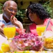 Retired African American Couple Eating Healthy — Stock Video