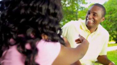 African American Parents Greeting Teenage Daughter — Stock Video