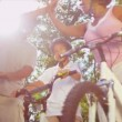 Stock Video: AfricAmericFamily Riding Bicycles