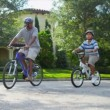 Family Cycling Fitness — Stock Video #18771341