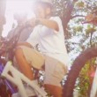 African American Parents Son Riding Bicycles — Stock Video #18771369