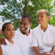 Portrait African American Parents Teenage Daughter Sons — Vídeo de stock