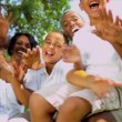 Tourism Promotion Enthusiastic Ethnic Family — Vídeo Stock