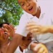 African American Family Advertising Tourism — Vídeo de stock