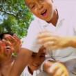 Turismo publicidade familiar Africano-americanos — Vídeo Stock