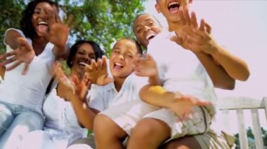 Tourism Promotion Enthusiastic Ethnic Family — Stock Video