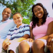 Commercial Tourism Welcome Young Ethnic Family — Vídeo de stock