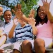 Advertisement Tourism Young Ethnic Family — Stockvideo