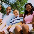 African American Family Tourism Advertisement — Stock video