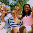 Tourism Promotion Enthusiastic Ethnic Family — Vídeo de stock