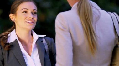 Female business executives — Stock Video