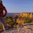 Stock Video: Hiker enjoying Canyon landscape