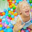 Stock Video: Pretty Young Girl Enjoying Childhood Play