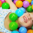 Little Caucasian Girl in Ball Pool — Stock Video #18889803