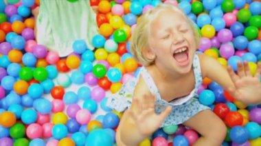 Pretty Young Girl Enjoying Childhood Play — Stock Video