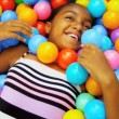 Royalty-Free Stock Immagine Vettoriale: Pretty Young Ethnic Girl Enjoying Childhood Play