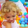 Royalty-Free Stock Векторное изображение: Portrait Pretty Little Girl Enjoying Childhood Play