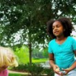 Stock Video: Little Girls Healthy Exercise Sport