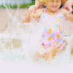 Cute Little Blonde Girl Swimsuit — Stock Video