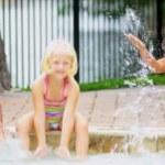 Happy Multi Ethnic Childhood Friends Swimming Pool — Stock Video