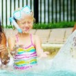 Stock Video: Happy Multi Ethnic Childhood Friends Swimming Pool