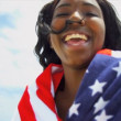 Stock Video: Smiling AfricAmericBeach Girl