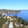 Aerial view of luxury homes overlooking San Francisco Bay — Stock Video