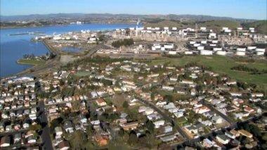 Vista del paisaje aéreo de los distritos y la ciudad de san francisco — Vídeo de Stock