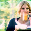 Attractive blonde businesswoman working with technology — Stock Video #19186691