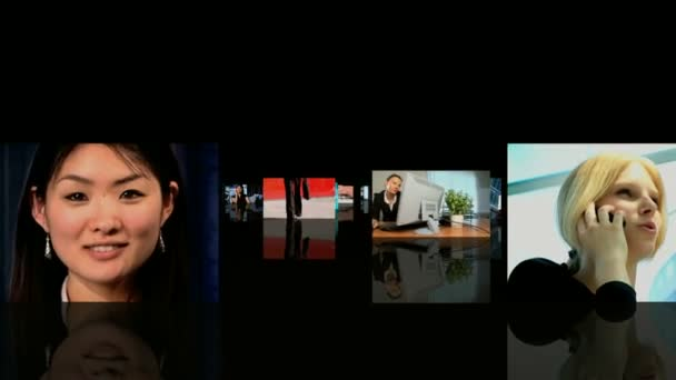 Montage images of achieving success in their business — Vidéo