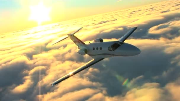 Business flying by Mustang jet — Vidéo